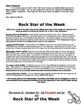 Rock Star of the Week - Building a Classroom Community