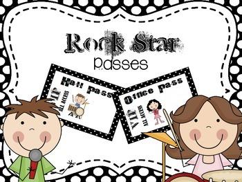 """Rock Star"" Classroom Passes"
