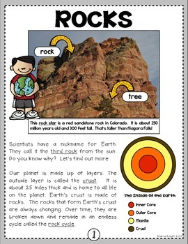 Rock Stars!  A Nonfiction SMARTICLE About Rocks (Grades 2-3)