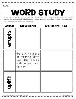 Rock Stars!  A Nonfiction SMARTICLE About Rocks (Grades 2-3)