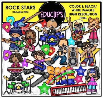 Rock Stars Clip Art Bundle {Educlips Clipart}