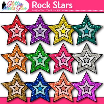 Rock Stars Clip Art {80's Retro Music Graphics for Workshe