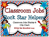 Rock Stars Themed Classroom Jobs Display & Clip Chart