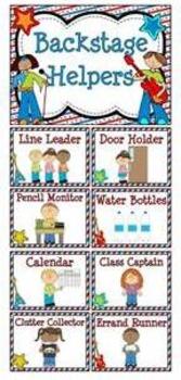 Rock Stars Themed Classroom Jobs Display & Clip Chart
