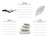 Rock, Stick, Leaf Debriefing Activity