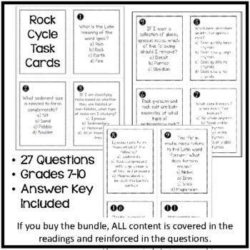 Rock Task Cards