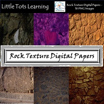 Rock Texture Digital Papers - Commercial Use - Pack 2
