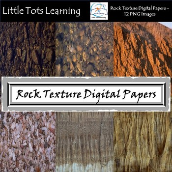 Rock Texture Digital Papers - Commercial Use - Pack 3