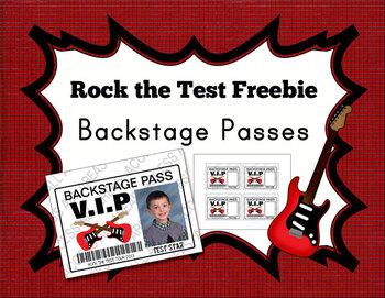 Rock The Test Backstage Passes Freebie