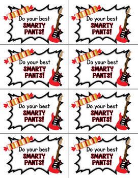 Rock The Test Testing Prep Treat Labels