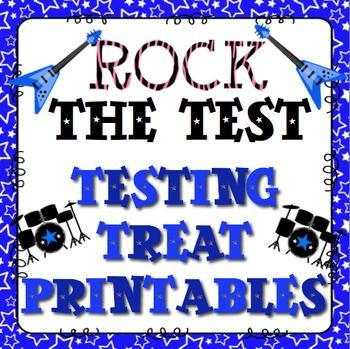 Rock The Test: Testing Treat Printable FREEBIE