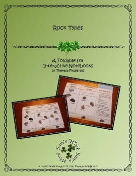 Rock Types Foldable