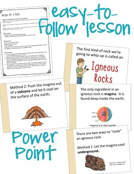 Rock Types Lesson and Activity