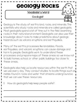Rock Unit {Shakin Quakin} Rocks For The Common Core Classroom
