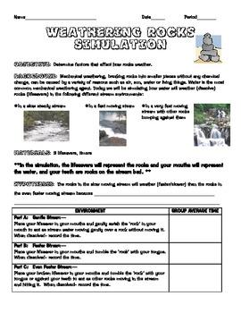 Rock Weathering Experiment/ Activity using lifesavers- FUN!