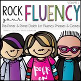 Rock Your Fluency ~ Pre-Primer & Primer Dolch Fluency Phrases, Games, & Stories