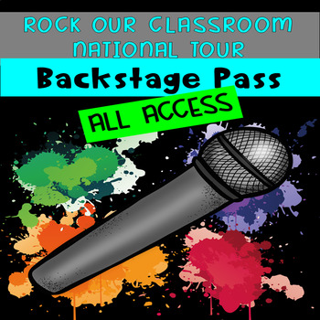Rock Our Classroom Backstage Pass