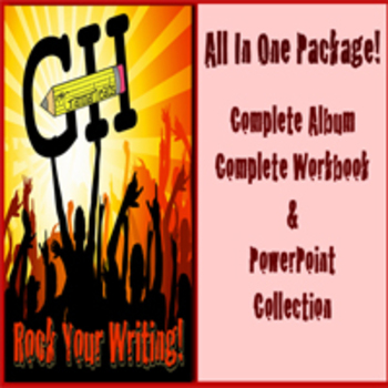 Rock Your Writing! Parts of Speech Bundle - Songs, PowerPoints, Worksheets