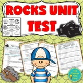 Rock and Mineral Assessments- Editable Test, Quiz, Answer key, and Reflection