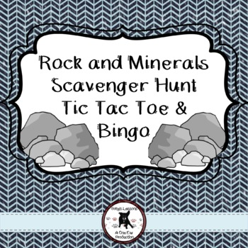 Rock and Mineral BINGO and Tic Tac Toe