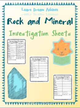 Rock and Mineral Investigation Sheets