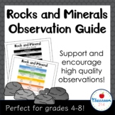 Rock and Mineral Observation Chart