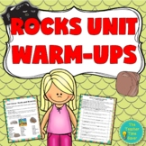 Rocks and Rock Cycle Unit Warm-up Activity (presentation and worksheet)