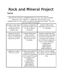 Rock and Mineral Project