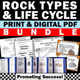 Rock and Minerals Stations BUNDLE Rock Cycle Activities Types of Rocks