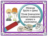 Rock and Minerals: Three Interactive Notebooks, Posters, Experiments