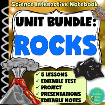 Rocks and Minerals Unit Bundle: Earth Science Notebook.- 7