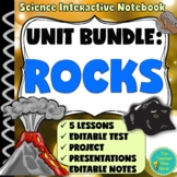 Rocks and Minerals Unit Bundle: Earth Science Notebook.- 70 pg & Presentation