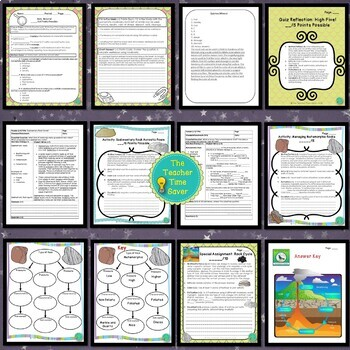 Rocks and Minerals Unit Bundle: Earth Science Interactive Notebook