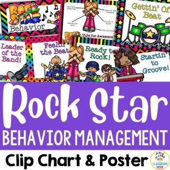 Rock Star Theme:  Behavior Management Chart & Poster