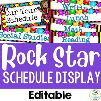 Rock Star Theme:  Class Schedule Display (Editable)