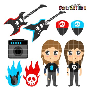 Rock and Roll Clip Art - Great for Art Class Projects!