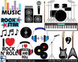 Rock and Roll Digital Clip Art Graphics 31 images cod77