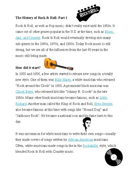 Rock and Roll History - Part 1 - Fill in the Blank