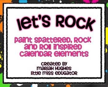 Rock and Roll Inspired Calendar Kit