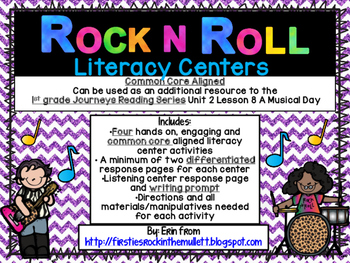 Rock and Roll Literacy Centers- A Musical Day 1st Grade Journeys