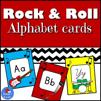 Rock and Roll Music Alphabet Cards