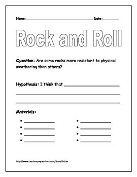 Rock and Roll- Physical Weathering Activity