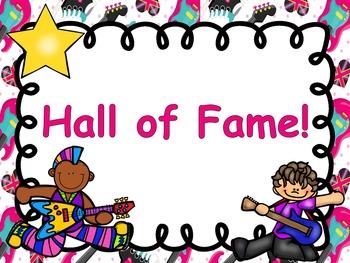 Rock and Roll Rock Star Theme Classroom Decor Clip Chart - Editable