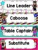 Rock and Roll Rock Star Theme Classroom Decor Helper Chart - Editable