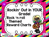 Rock and Roll Rock Star Reward Charts Cards