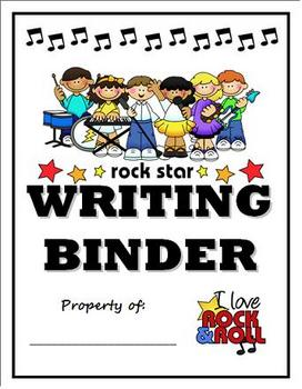 Rock and Roll Theme Writing Binder Cover