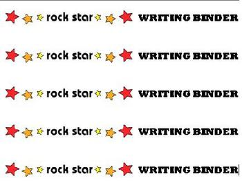 Rock and Roll Theme Writing Binder Spine