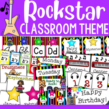 Rock Star Theme: Classroom Decor Collection (MEGA PACK ...