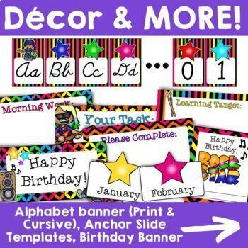 Rock Star Theme: Classroom Decor Collection (MEGA PACK!)