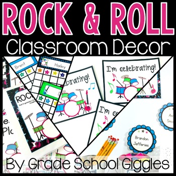 Editable Rock and Roll Theme Classroom Decor ~ 400 Pages of Rock and Roll Decor!
